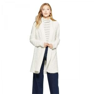 NWT A New Day Long Open Cardigan Sweater XS Cream
